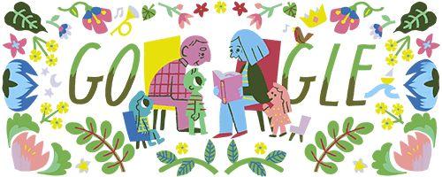 Che bella sorpresa: i nonni di Google leggono nei giardini.
