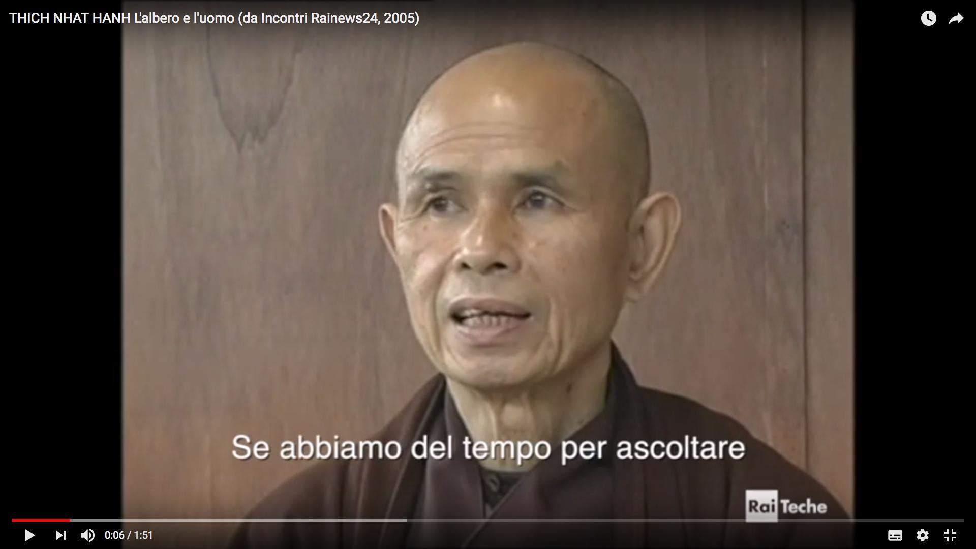 """""""Caro Albero, se tu non fossi qui io non sarei qui"""" (Thich Nhat Hanh)"""